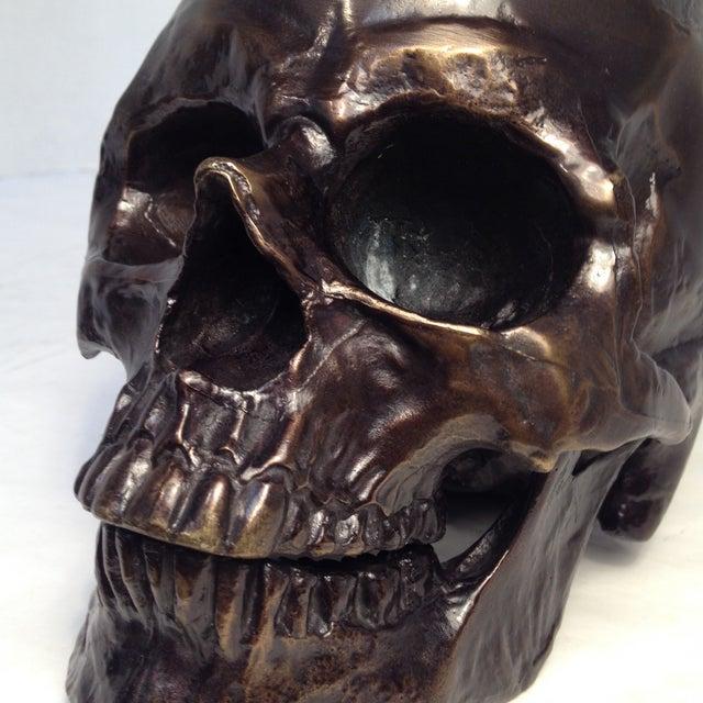 Metal Skull Sculpture - Image 6 of 7