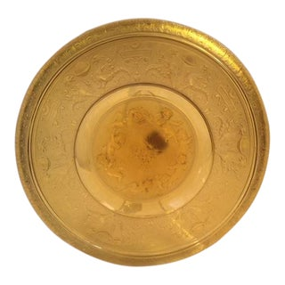 Czech Art Deco Heinrich Hoffmann Amber Plate For Sale