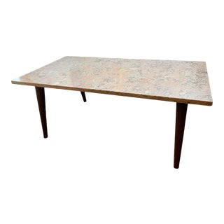 Mid-Century Modern Pink Marble Coffee Table For Sale
