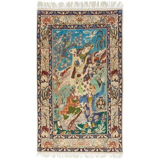 """Tabriz, Hand Knotted Persian Rug - 3' 8"""" X 5' 9"""" For Sale"""