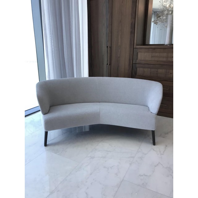 Creed Curved Lounge Sofa Designed by Minotti For Sale - Image 12 of 13