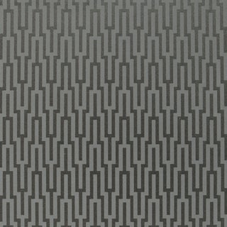 Schumacher Metropolitan Fret Wallpaper in Black Pearl For Sale