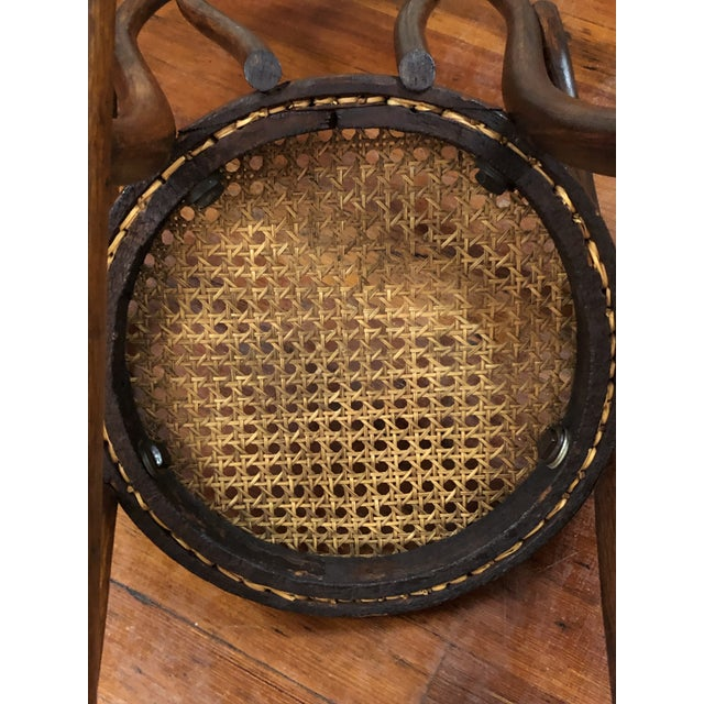 Late 20th Century Vintage Thonet Bentwood Childs Cane Set Rocker For Sale - Image 6 of 13