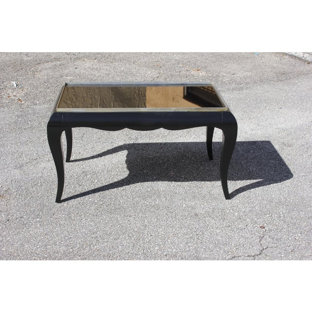 1940s French Art Deco Ebonized Coffee Table For Sale In Miami - Image 6 of 13
