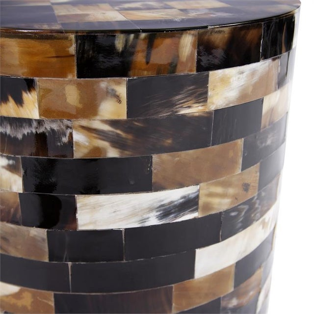 Contemporary Kenneth Ludwig Chicago Elis Round Horn Table For Sale - Image 3 of 4