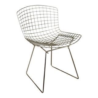 Knoll Chrome Bertoin Side Chair For Sale