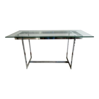 Mid-Century Modern Glass & Chrome Table
