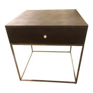 Contemporary Calvert Shagreen Side Table For Sale