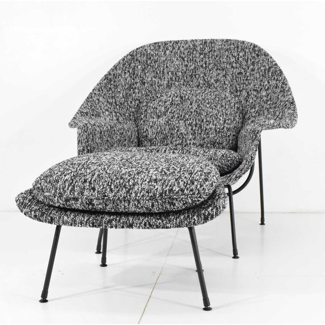 Black Eero Saarinen for Knoll Womb Chair and Ottoman For Sale - Image 8 of 12