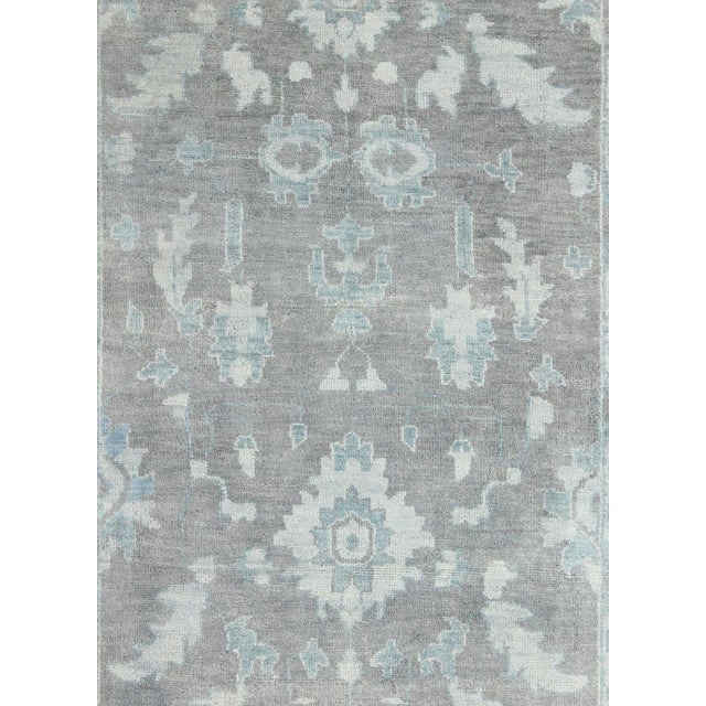 Vintage Gray Oushak Style Rug- 8′6″ × 11′6″ For Sale - Image 4 of 7