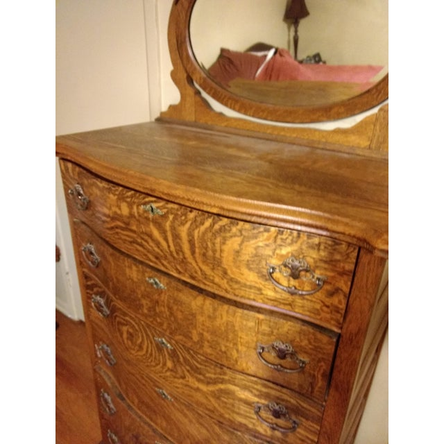 20th Century Traditional Restored Tiger Oak Highboy For Sale In Dallas - Image 6 of 9