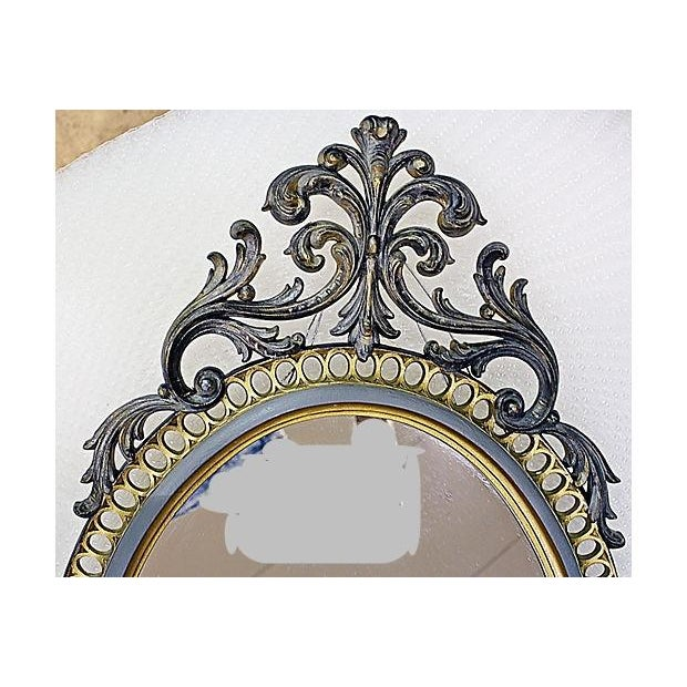 Resin Rococo Mirror For Sale - Image 4 of 6