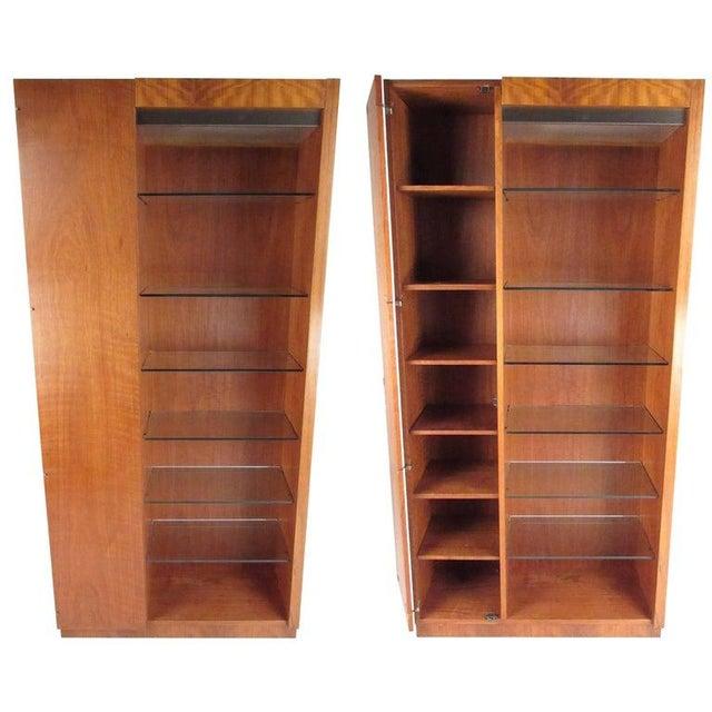 Pair of Scandinavian Modern Teak Display Cabinets For Sale - Image 10 of 10