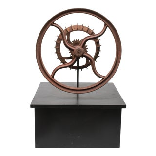 """Ready-Made Sculpture """"Wheel & Cogs"""" in Rusted Iron For Sale"""