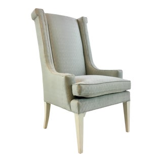 Caracole Transitional Perfecto High Back Lounge Chair For Sale