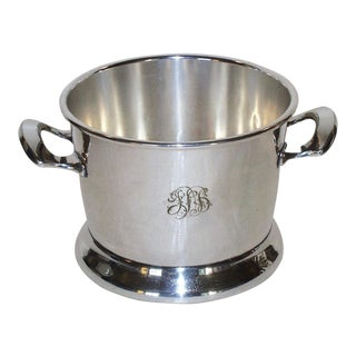 1960s Vintage Silver Plated Ice Bucket For Sale
