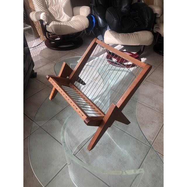 Brown Pierre Jeanneret Magazine Rack For Sale - Image 8 of 8