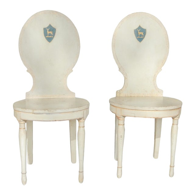 Unusual Pair of Swedish Gustavian Side Chairs - Image 1 of 10