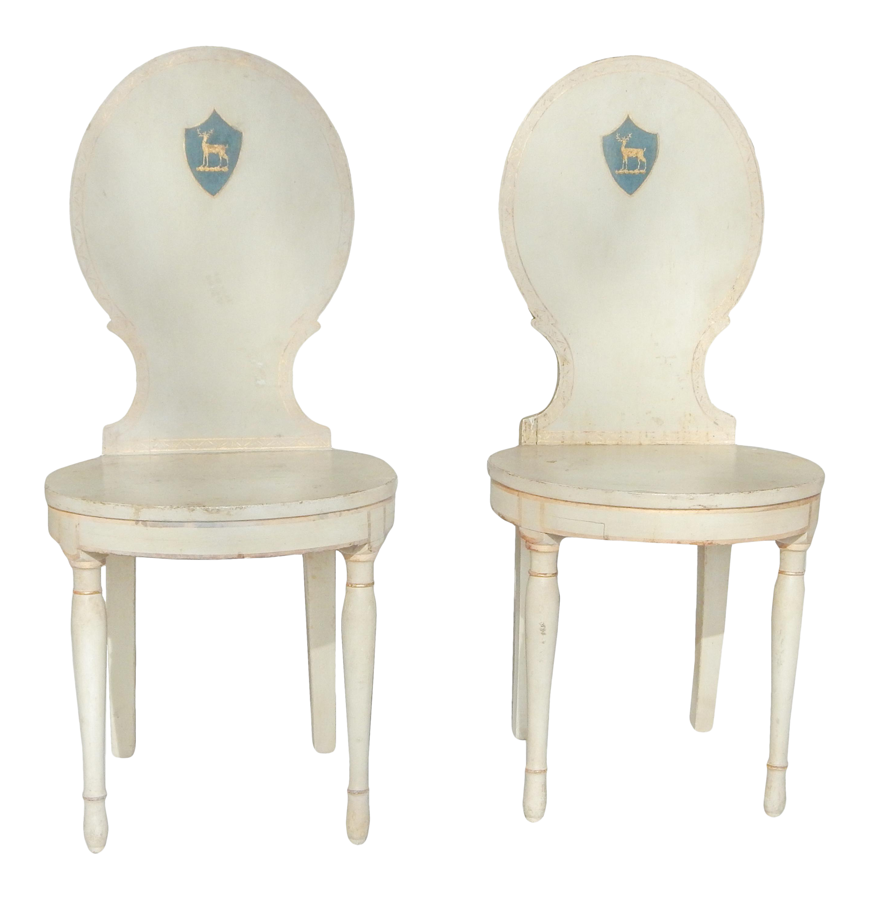 Unusual Pair Of Swedish Gustavian Side Chairs   Image 1 Of 10