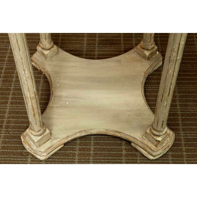 French Painted Tiered Side Table or Plant Stand - Image 4 of 5