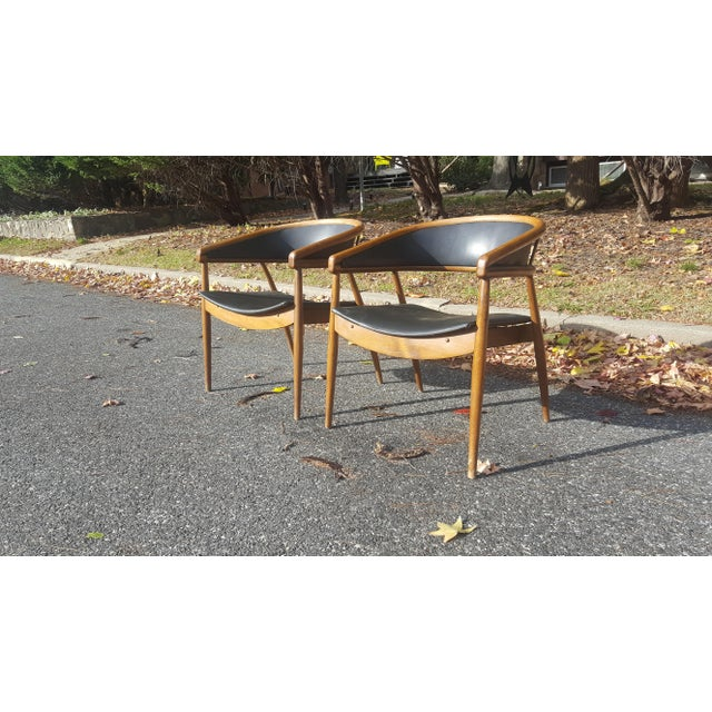 1950s James Mont Vintage Mid-Century Lounge Chairs - A Pair For Sale - Image 5 of 7