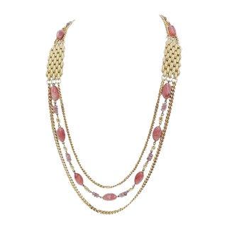1980s Balenciaga Sautoir Necklace For Sale