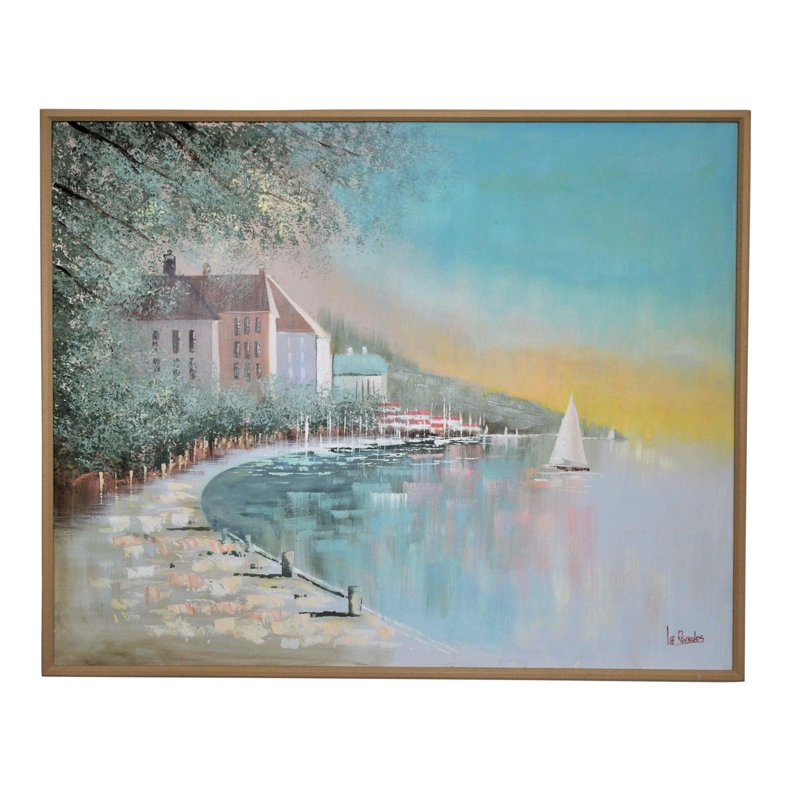 Large Lee Reynolds Original Seascape Maritime Oil Painting