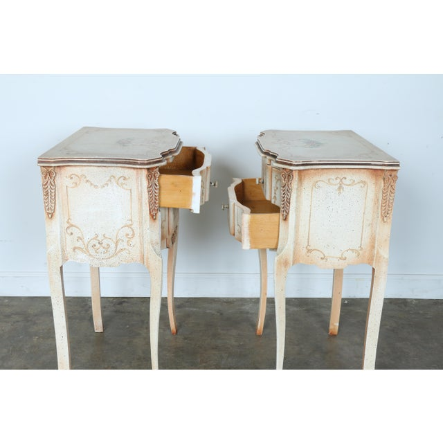 French Style Nightstands - A Pair - Image 9 of 11
