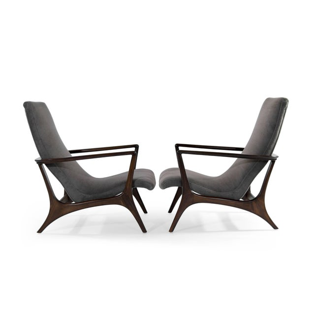 1950s Contour Lounge Chairs, Attr. To Vladimir Kagan For Sale - Image 5 of 12