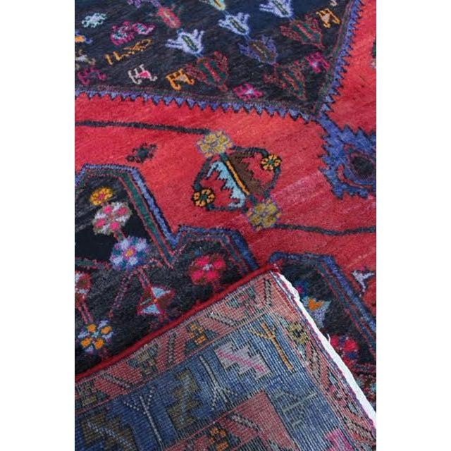 "Vintage Persian Zanjan Rug - 5'4"" x 8'10"" - Image 9 of 9"