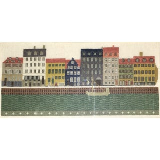 Handcrafted Needlepoint of Danish Waterfront Preview