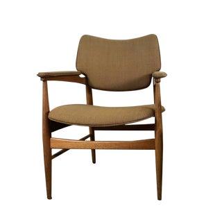 Modernist Armchair by Gunlocke in the Manner of Finn Juhl For Sale