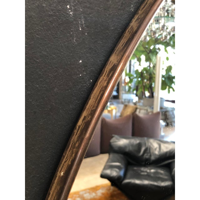Glass Oversize Oval Wall Mirrors, Italy, Late 1960s - a Pair For Sale - Image 7 of 10