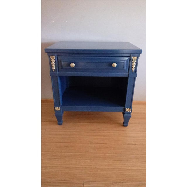 Drexel San Remo High Gloss Blue Nightstand - Image 6 of 6