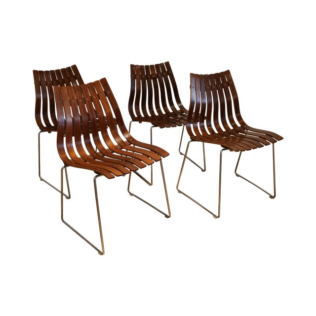 Skandia Rosewood Dining Chairs - Set of 4 - Image 1 of 10