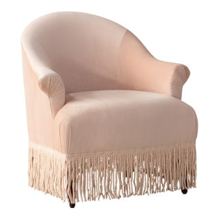 Fringe Chair in Titan Pink Champagne For Sale