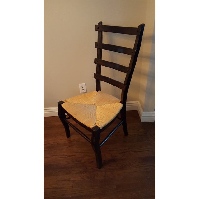 Ladder-Back Dining Chairs With Rush Seats - S/4 - Image 3 of 4