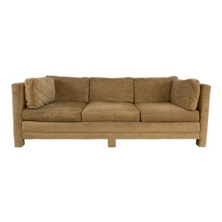 Mid Century Parsons Style Sofa For Sale