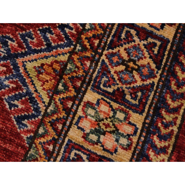 2000 - 2009 Persian Margaret Red/Beige Hand-Knotted Wool Rug - 2'0 X 2'10 For Sale - Image 5 of 8