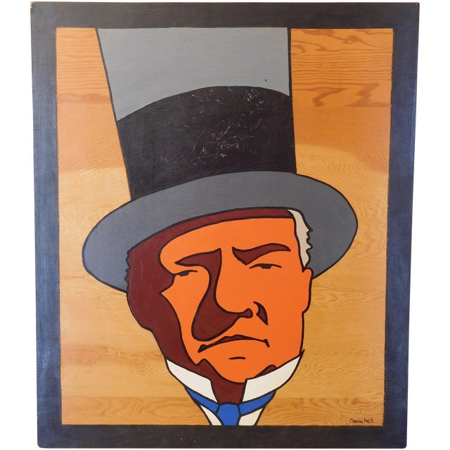 Charles Hall Large WC Fields Pop Art Painting - Image 1 of 6