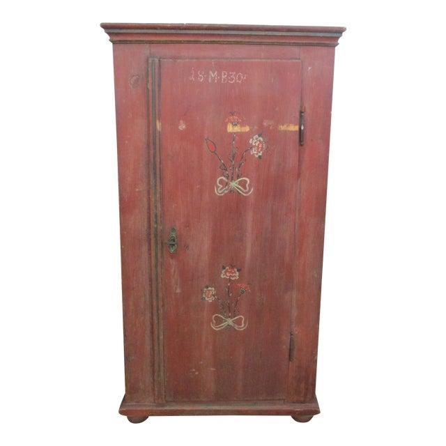 Antique Swedish Original Paint Cupboard Cabinet - Image 1 of 11