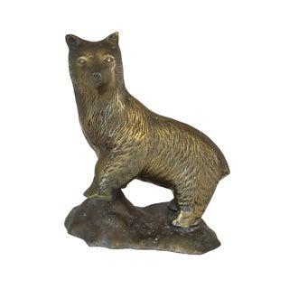 Brass Standing Bear For Sale