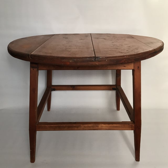 Mid Century Round Wood Table For Sale - Image 11 of 11