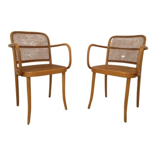 Vintage Josef Hoffmann Bentwood Chairs - Pair For Sale