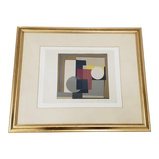 Ben Nicholson Abstract Silkscreen Print C.1960s to 1970s For Sale