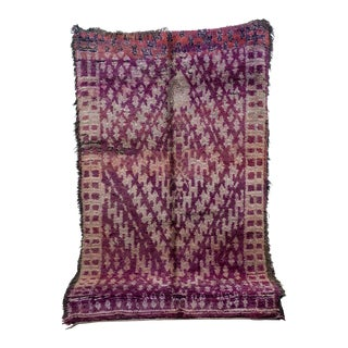 """Beni M'Guild Vintage Moroccan Rug, 6'0"""" X 9'10"""" For Sale"""