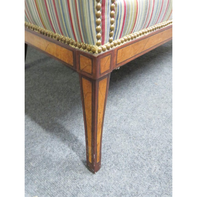 Hickory Chair Furniture Company Hickory Chair Co. Mahogany Satinwood Settee For Sale - Image 4 of 8