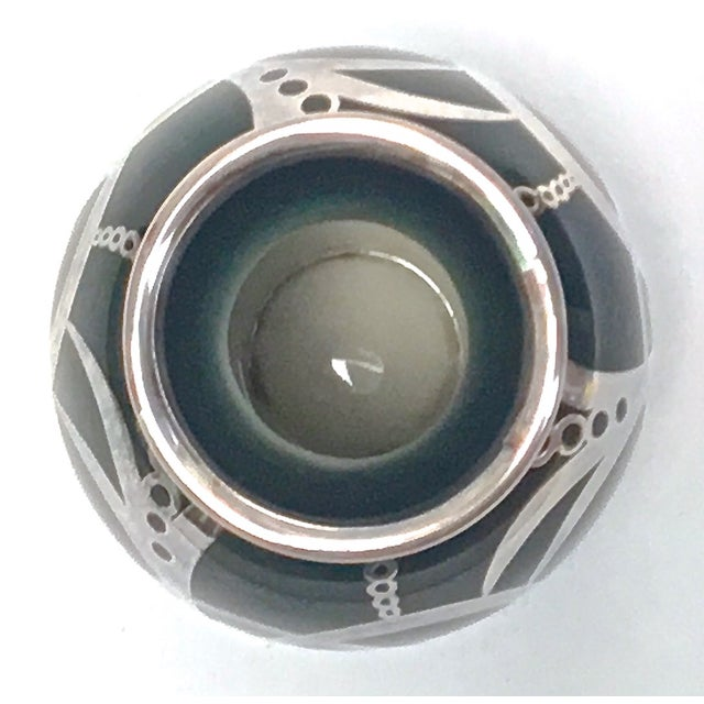 Art Deco Haviland Green & Silver Porcelain Vase - Image 8 of 9