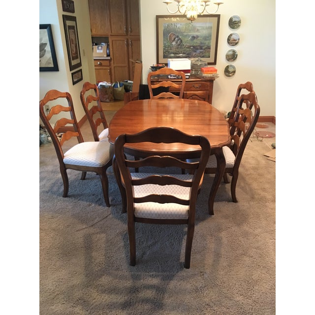 French Ethan Allen French Country Dining Set - 7 Pieces For Sale - Image 3 of 12