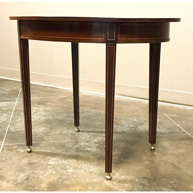 Brown Antique French Mahogany Directoire Inlaid End Table For Sale - Image 8 of 10
